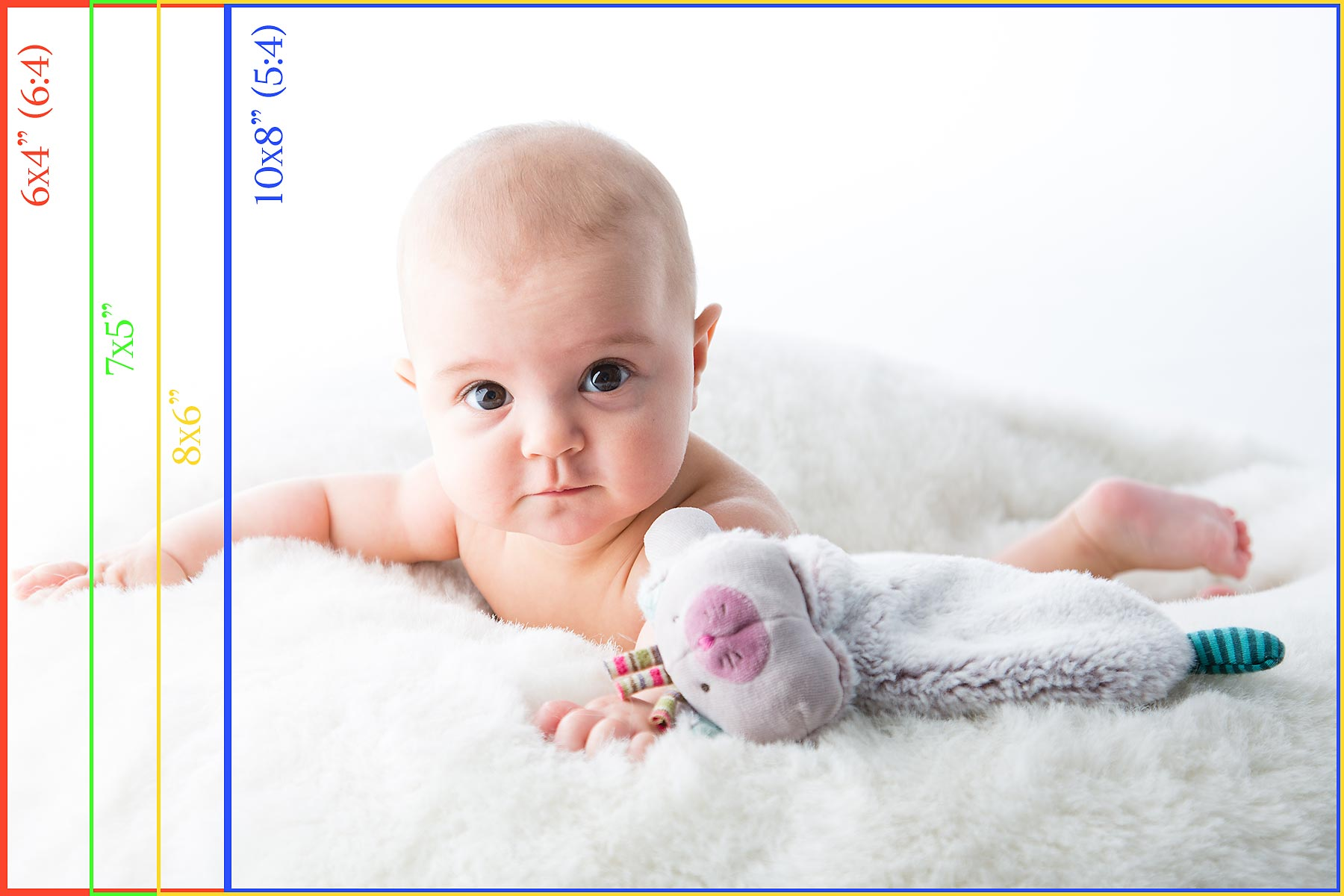 Baby photo to show effect of cropping with different aspect rations